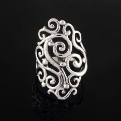 Awesome !! 925 Sterling Plain Silver Party Wear Stylish Ring Jewelry Gift For Her