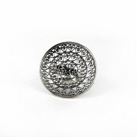 925 Sterling Silver Circle Shape Ring Handmade Oxidized Jewelry