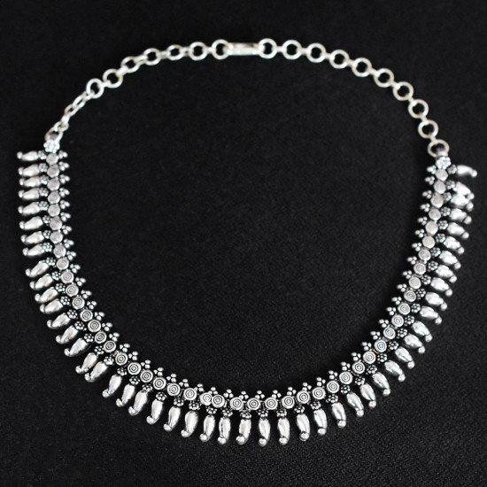 A Wonderful Way !! 925 Sterling Silver Handmade Necklace Plain Silver Necklace