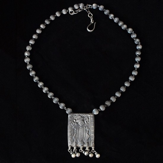Designer Silver Necklace !! Fashionable 925 Sterling Silver Indian Religious Necklace Jewelry