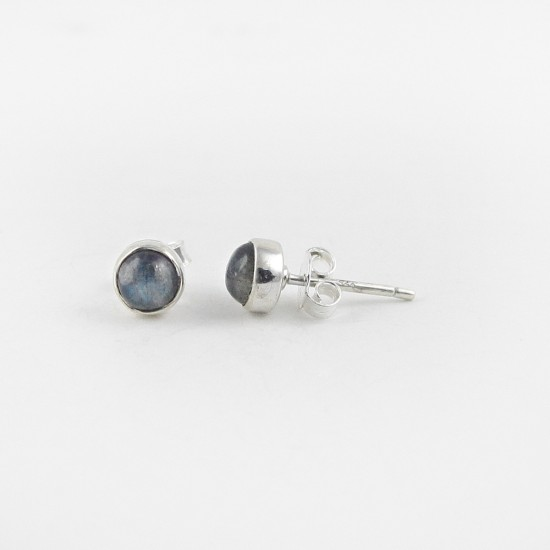 925 Sterling Silver Labradorite Stud Earring Jewelry Gift For Her