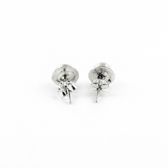 925 Sterling Silver Natural Turquoise Stud Earring Jewelry