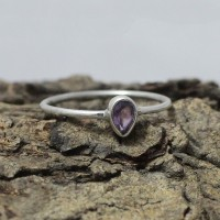 Purple Amethyst 925 Sterling Silver Ring