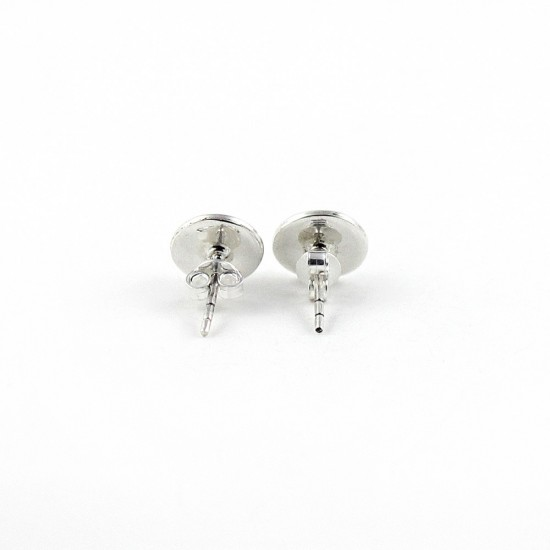 925 Sterling Silver Rainbow Moonstone Stud Earring Jewelry Gift For Her