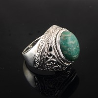 Azurite 925 Sterling Silver Gemstone Jewelry Ring