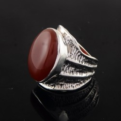 Red Onyx !! 925 Handmade Sterling Silver Ring Indian Silver Jewelry