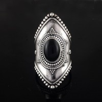 Black Onyx 925 Sterling Silver Ring Black Onyx Oval Shape Silver Ring Handmade Silver Jewelry