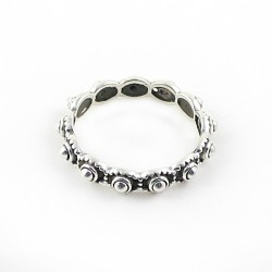 Handmade Oxidized 925 Sterling Plain Silver Band Ring Women Jewelry Gift For Her