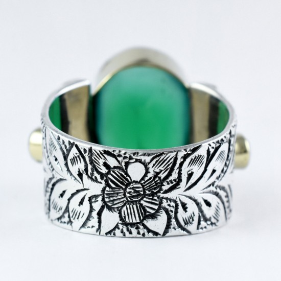 Alluring Multi Stone Ring Handmade 925 Sterling Solid Silver Boho Ring Oxidized Silver Ring Jewellery Indian Silver Jewellery