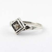 Alluring Smoky Quartz 925 Sterling Silver Ring Wholesale Silver Jewelry Engagement Ring Gift For Her