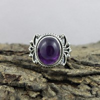 Gorgeous Natural Amethyst 925 Sterling Silver Ring