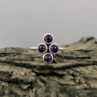 Amethyst Round Shape 925 Sterling Silver Ring Jewelry