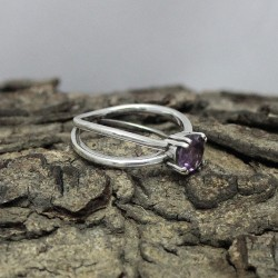 925 Sterling Silver !! Handmade Ring Amethyst Gemstone 925 Sterling Silver Ring