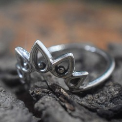 Antique Look Tiara Ring Silver Band Ring Solid 925 Sterling Silver Handmade Ring Jewellery