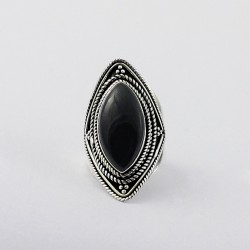 Beautiful Design !! Black Onyx 925 Sterling Silver Ring