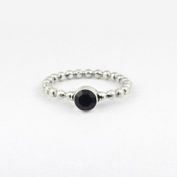 Attractive Black Onyx Band Ring Handmade 925 Sterling Silver Ring Jewelry Gift For Her