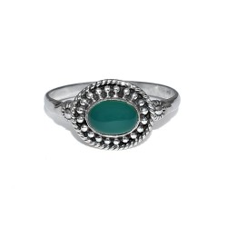 Attractive Green Onyx 925 Sterling Silver Ring Boho Jewelry For Her Indian Silver Jewelry