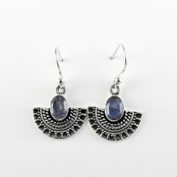 Attractive Natural Labradorite 925 Sterling Silver Earring Jewelry