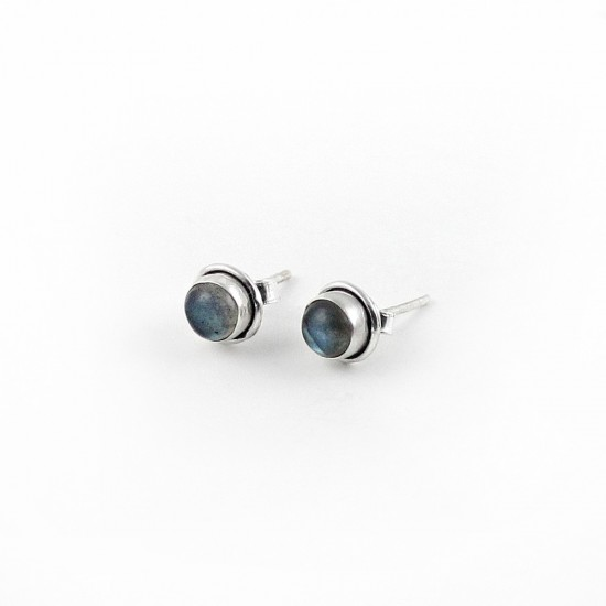 Attractive Labradorite 925 Sterling Silver Stud Earring Jewelry