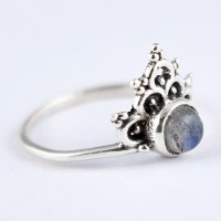 Attractive Natural Labradorite Ring Solid 925 Sterling Silver Boho Ring Birthstone Ring Jewelry