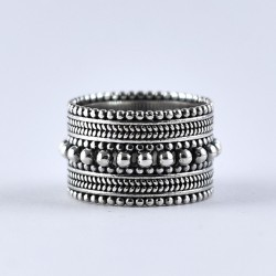 Band Ring 925 Sterling Plain Silver Ring Handmade Oxidized Silver Jewellery