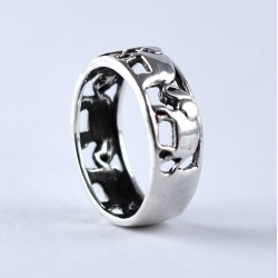 Band Ring Elephant Shape Handmade 925 Sterling Silver Ring Jewellery Boho Ring Jewellery Gift For Her