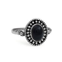 Beautiful Black Onyx 925 Sterling Silver Bohemian Handmade Ring Jewelry