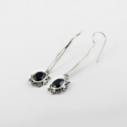 Mysteries !! Black Onyx 925 Sterling Silver Earring