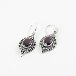 Empress Garnet 925 Sterling Silver Earring