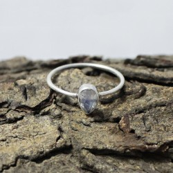 Gorgeous !! Ring Rainbow Moonstone Gemstone 925 Sterling Silver Ring