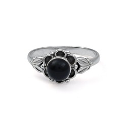 Black Onyx 925 Sterling Silver Birthstone Ring Jewelry Handmade Silver Ring