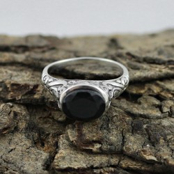 Amazing Ring !! 925 Sterling Silver Jewelry Ring Black Onyx Gemstone Silver Ring