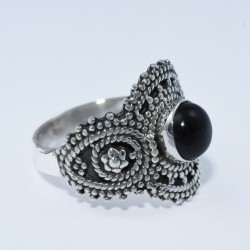 Black Onyx Ring 925 Sterling Silver Handmade Oxidized Silver Ring Jewelry