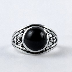 Black Onyx Ring 925 Sterling Silver Oxidized Silver Jewelry Manufacture Silver Ring Jewelry Gift For Her