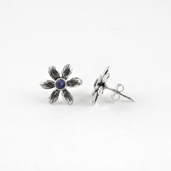 Blue Iolite 925 Sterling Silver Handmade Earring Jewelry For Her