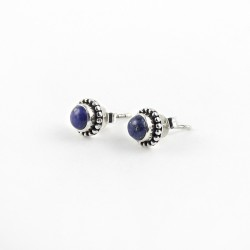 Awesome !! Blue Lapis 925 Sterling Silver Stud Earring Jewelry