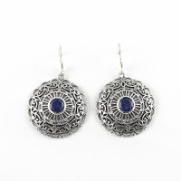 Unique Design Blue Lapis Lazuli 925 Sterling Silver Earring Jewelry