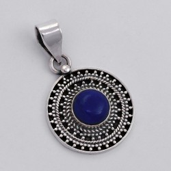 Blue Lapis Lazuli 925 Sterling Silver Handmade Pendant Birthstone Jewelry Gift For Her