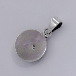 Great Style !! Blue Lapis Lazuli 925 Sterling Silver Oxidized Pendant Fine Jewelry