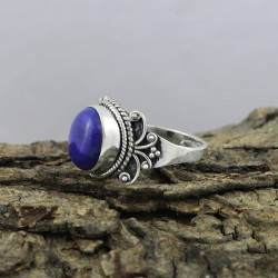 Alluring Blue Lapis Stone 925 Sterling Silver Ring