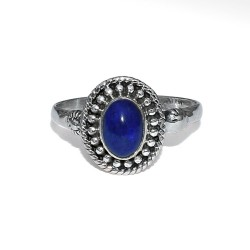 Blue Lapis Lazuli Oval Shape 925 Sterling Silver Ring Fine Jewelry Indian Silver Jewelry