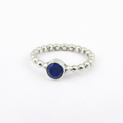 Blue Lapis Lazuli Ring 925 Sterling Solid Silver Band Ring Jewellery Engagement Ring Wedding Band Jewellery