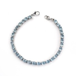 Attractive !! Blue Topaz 925 Sterling Silver Artisan Design Bracelet