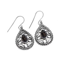 All Of Us !! Brown Smoky Quartz 925 Sterling Silver Earring Jewelry