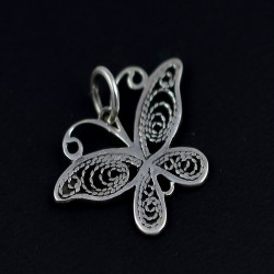 Butterfly Charms Pendant Jewelry 925 Sterling Plain Silver Jewelry Wholesale Silver Jewelry Exporter