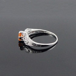 Exclusive Silver Ring !! Carnelian 925 Sterling Silver Rhodium Plated Ring