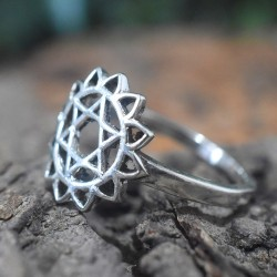 Chakra Band Ring 925 Sterling Silver Ring Handmade Silver Ring Jewellery Gift For Her