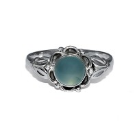 Chalcedony 925 Sterling Silver Handmade Ring Jewelry