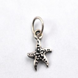 Classy Star Charming Shape Pendant Handmade 925 Sterling Plain Silver Oxidized Jewelry