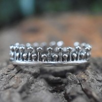Crown Shape Band Ring Handmade Silver Ring 925 Sterling Silver Ring Wedding Band Ring Gift For Her